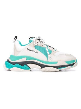 Balenciaga - Triple S Paneled Sneaker Teal - Men