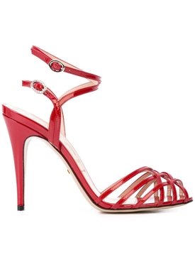 Patent Leather Sandals RED