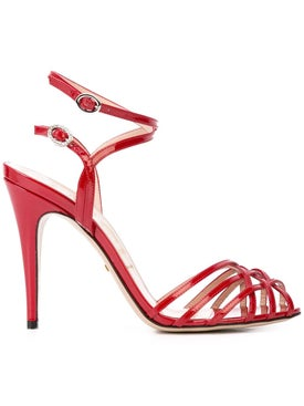 c0f02b2a0 Gucci - Patent Leather Sandals Red - Women ...