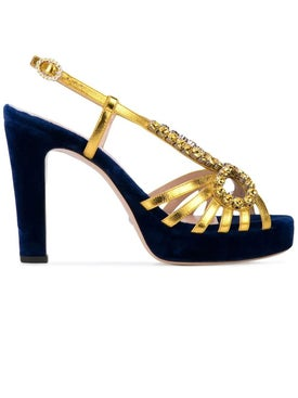 a3553344e Gucci - Crystal Embellished Sandals - Women ...