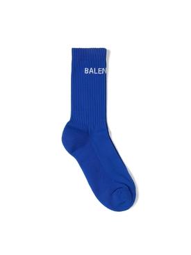 Tennis Socks Royal Blue and White
