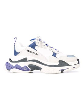 Balenciaga - Purple And Navy Detail Triple S Sneakers - Low Tops