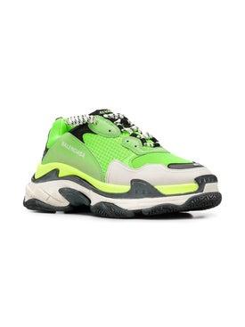 Balenciaga - Lime Green Triple S Sneakers - Men