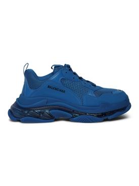 Triple S Clear Sole Sneaker Deep Blue