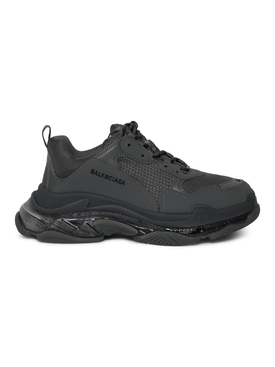 Triple S Clear Sole Sneaker Deep Grey