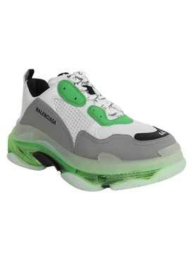 Green Clear Sole Triple S Sneaker