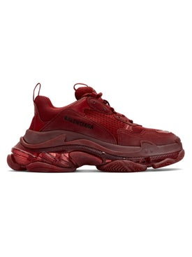 Balenciaga - Burgundy Triple S Sneakers - Men