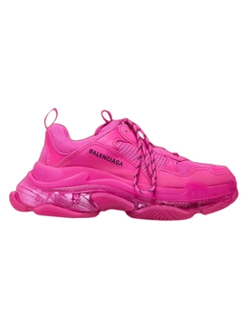 Triple S clear sole low top sneaker PINK