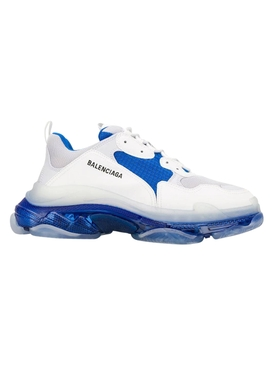 Balenciaga - Triple S Clear Sole Low Top Sneaker White/blue/grey - Men