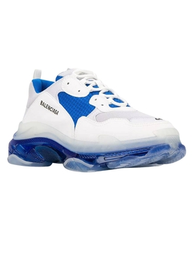 Triple S clear sole low top sneaker WHITE/BLUE/GREY