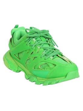 Fluorescent Green Track Sneaker