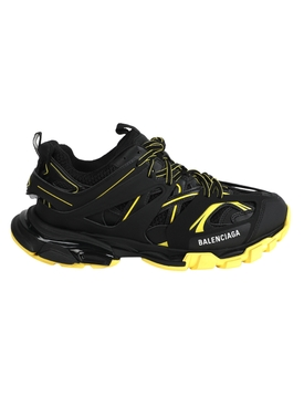 Black and Yellow Track Sneaker