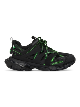 Black and Green Track Sneaker