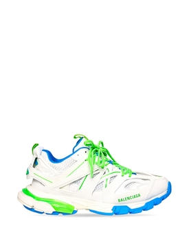 TRACK SNEAKER WHITE GREEN AND BLUE
