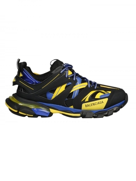 Multi-panel track sneakers BLACK/YELLOW/BLUE