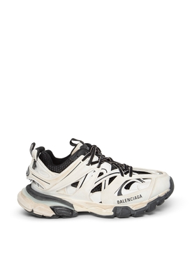 Worn out track sneaker white and black