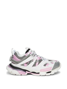 Worn out track sneaker white and pink