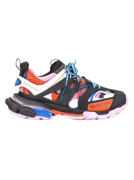 Track Sneakers Black Orange Pink