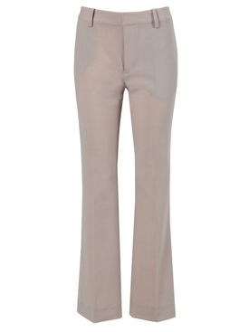 Beige flared trousers