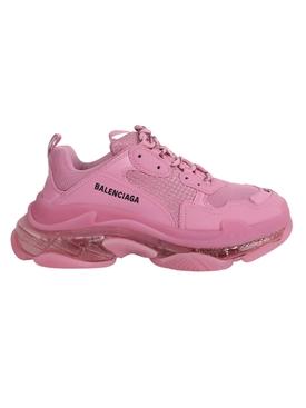 Pink Clear Sole Triple S Sneaker