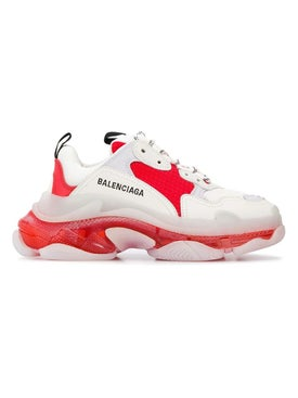 Balenciaga - Triple S Sneakers White, Red And Grey - Women