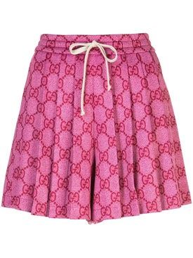 Gucci - Gg Supreme Pleated Skirt Pink - Mini