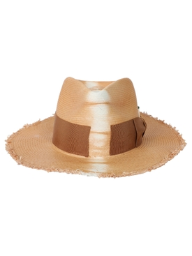 Rayon fedora straw hat