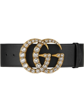 GG crystal marmont buckle belt