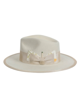 Petit Papillon Hat, Bone Yard White