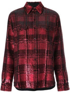 Saint Laurent - Sequinned Plaid Shirt - Women