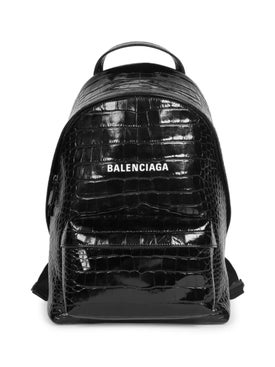 Balenciaga - Small Croc Embossed Everyday Backpack - Backpacks