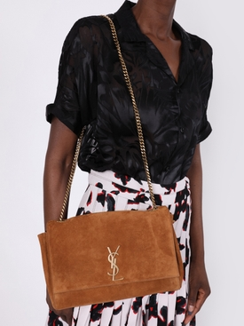 Brown suede leather Kate bag