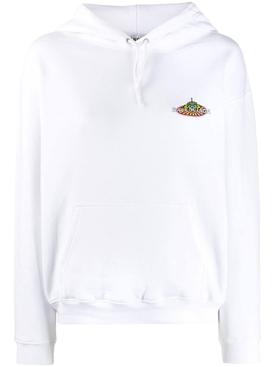Bonjour print hoodie