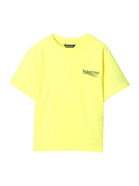 Kids Fluorescent Yellow Logo T-shirt