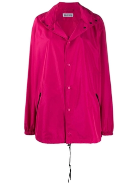 drawstring windbreaker FUCHSIA