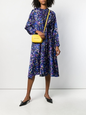 pulled print dress