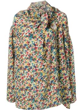 Floral Draped Shirt