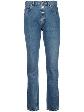 Stone wash skinny jeans