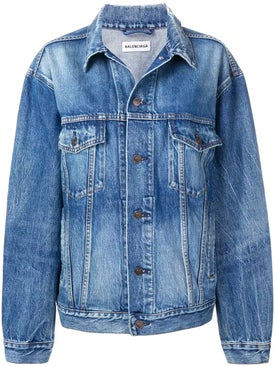 Balenciaga - Oversize Logo Denim Jacket - Women