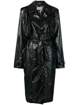 Christopher Kane - Iridescent Oil Trench Coat - Women