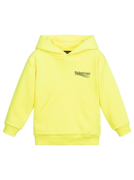 Kids Fluorescent Yellow Hoodie