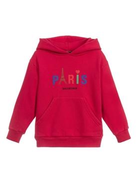 KIDS PARIS STRAWBERRY RED HOODIE