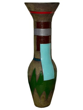 Harvey Bouterse - Multicolor Tall Graphic Vase - Home