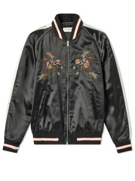 Saint Laurent - Floral Embroidered Teddy Jacket - Men