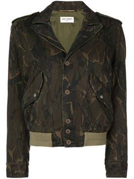 Saint Laurent - Camo Print Jacket - Women