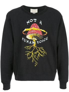 """Not a Human Voice"" print sweater"