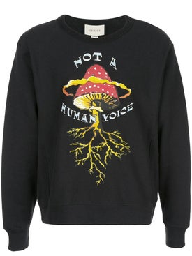 "Gucci - ""not A Human Voice"" Print Sweater - Men"