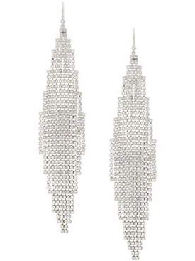cascade encrusted earrings