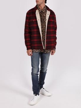 Silk leopard print shirt