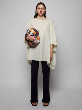 ESTELA OVERSIZED KAFTAN TOP, LIGHT CREAM